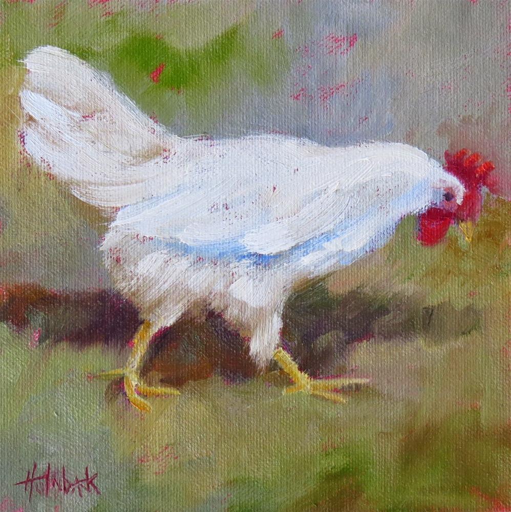 """""""Chicken Licken"""" original fine art by Pam Holnback"""