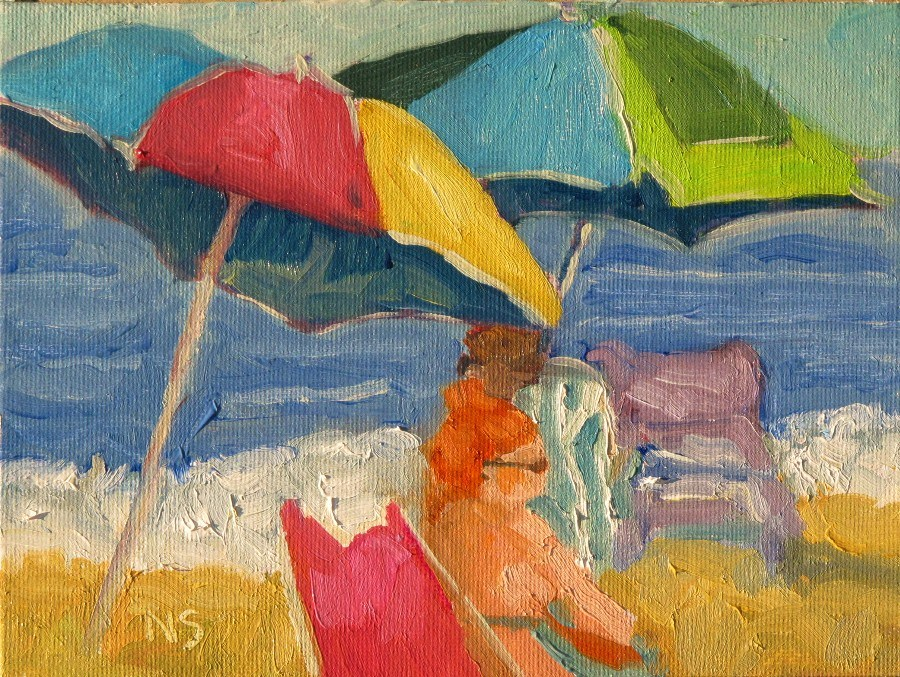 """Beach Redhead, 12122"" original fine art by Nancy Standlee"
