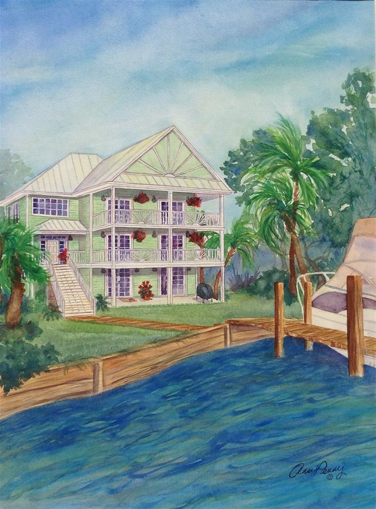"""""""Home on the ICWW"""" original fine art by Anna Penny"""