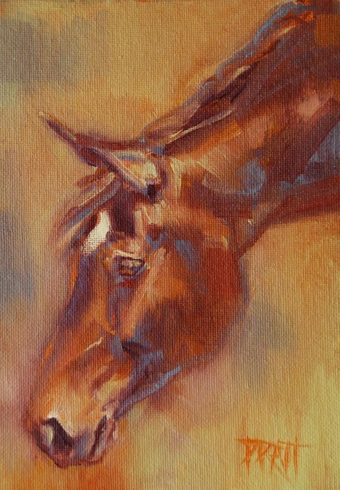 """Broodmare #2"" original fine art by Jennifer Pratt"