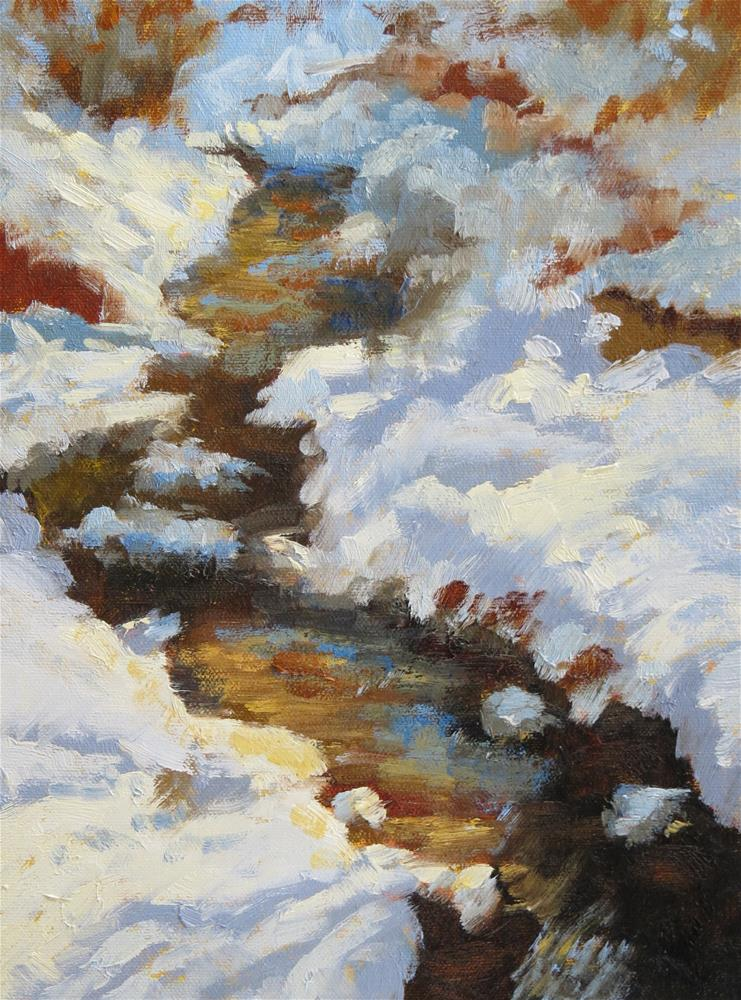 """Fresh Snow"" original fine art by Pam Holnback"