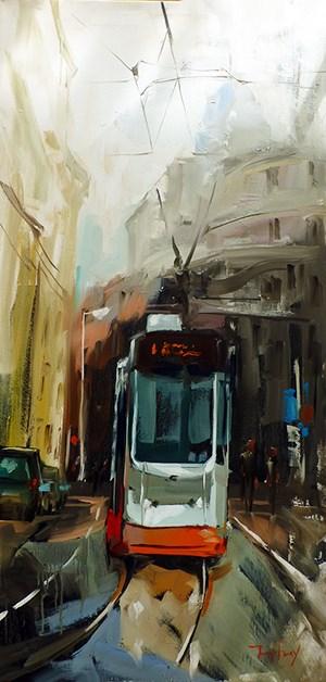 """Tramway"" original fine art by Jurij Frey"