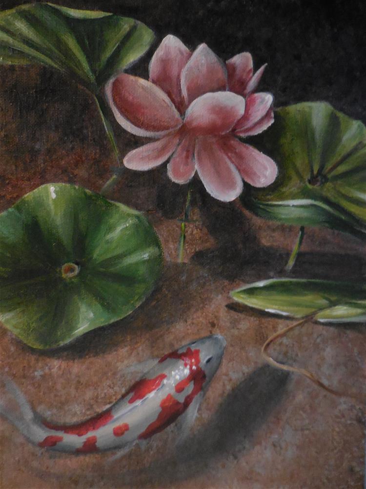 """""""Lotus Blossom"""" original fine art by Terri Nicholson"""