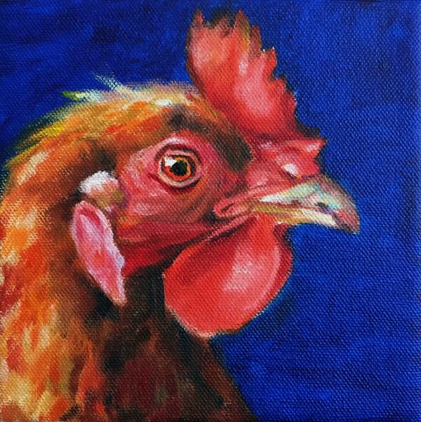 """rooster01"" original fine art by Joy Cai"