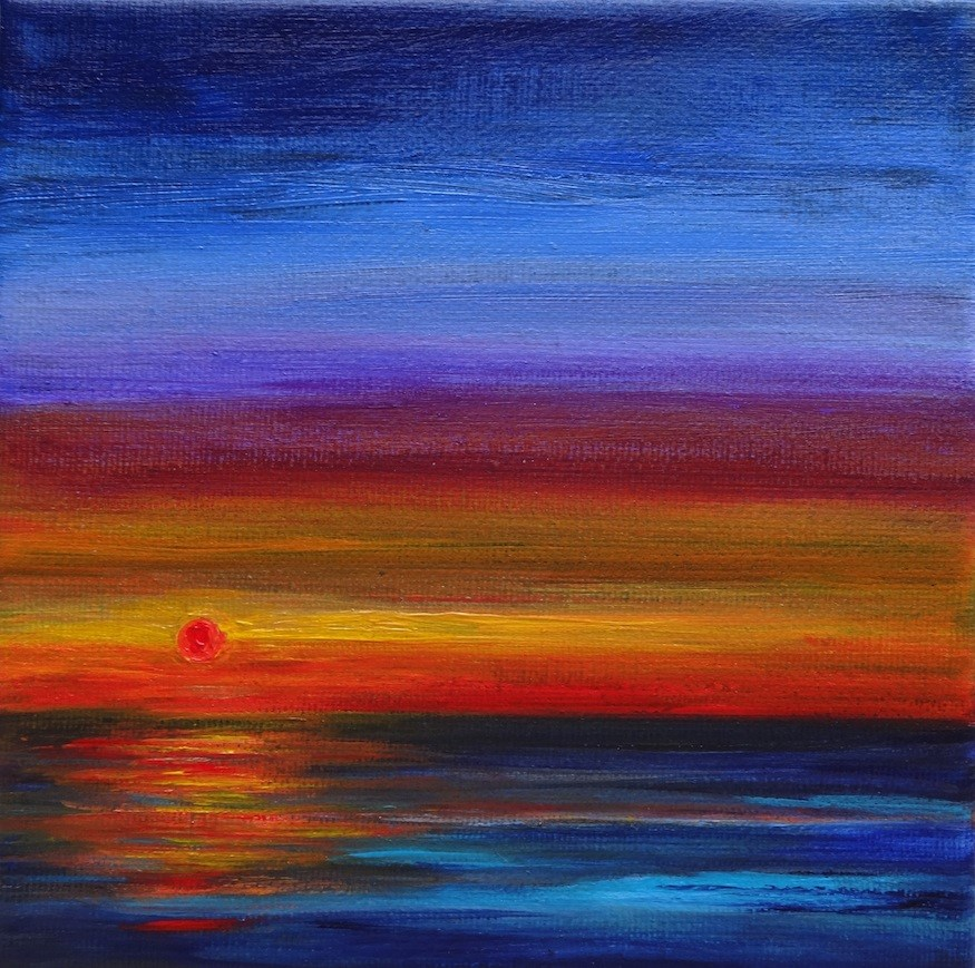 """4020 - Last Light - Miniature Masterpiece"" original fine art by Sea Dean"