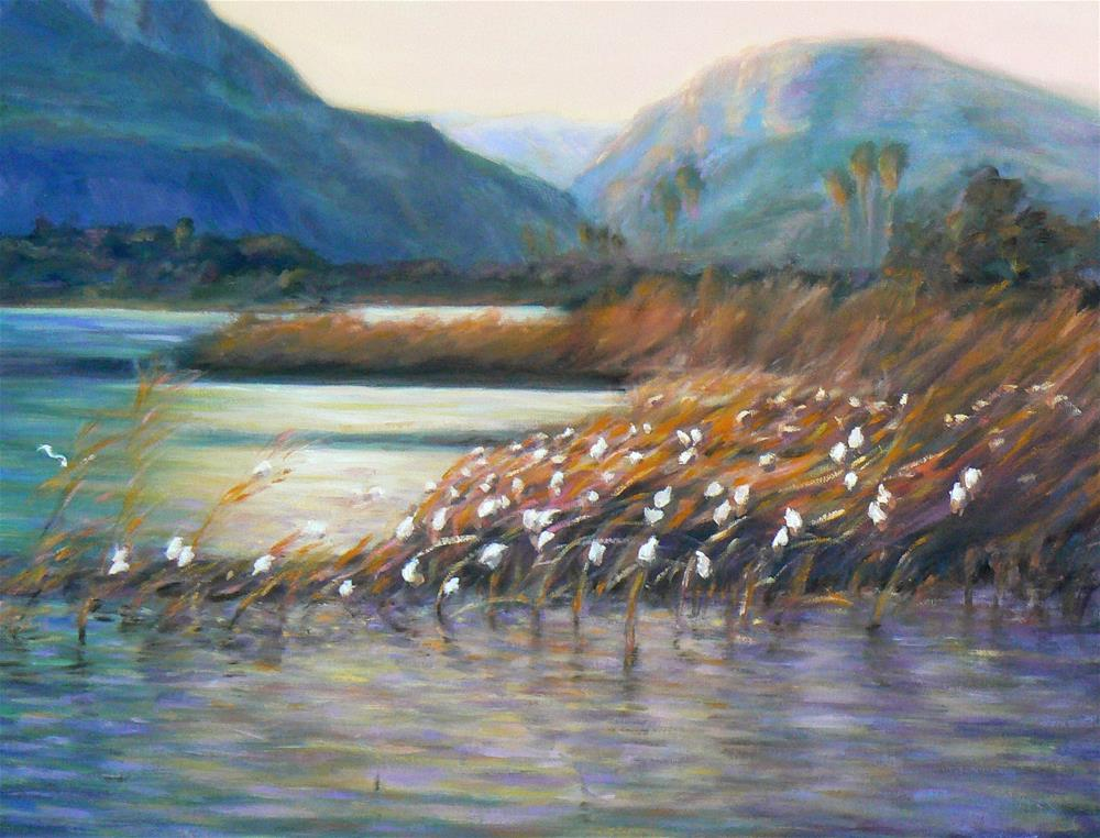 """Sea of Galilee"" original fine art by Cynthia Mahlberg"