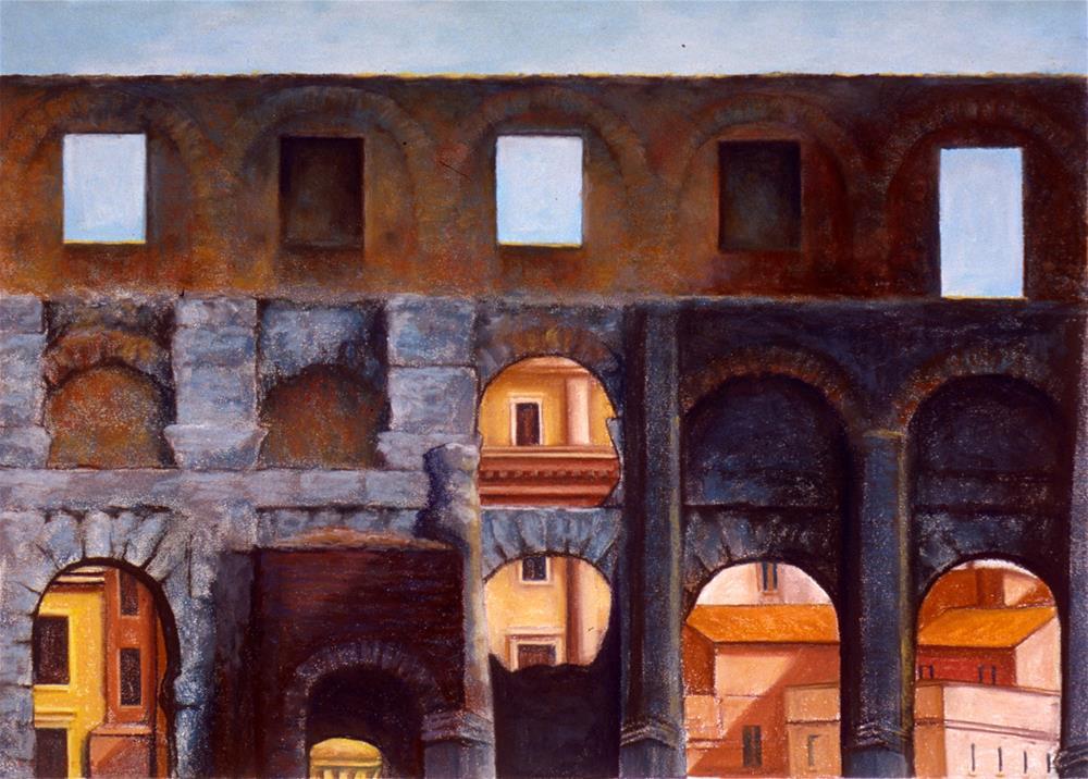 """Colosseum IV"" original fine art by Joe Fitzgerald"