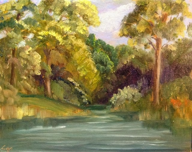 """""""Bayou Backwater"""" original fine art by Lyn Gill"""