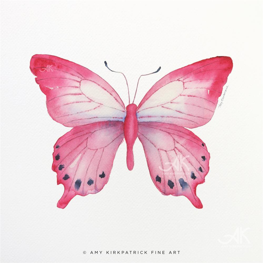 """#108 Pink Laglaizei Butterfly #0579"" original fine art by Amy Kirkpatrick"