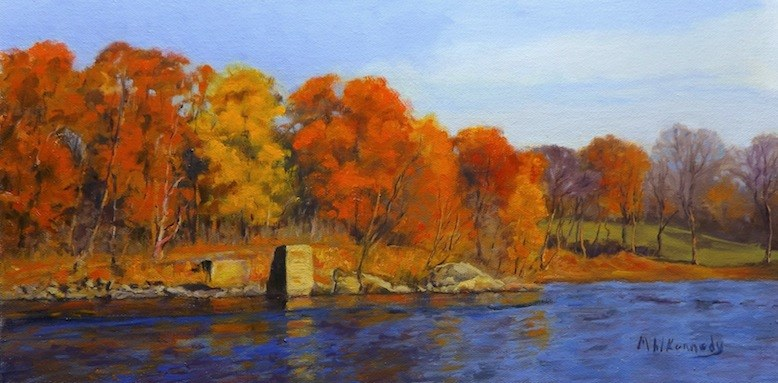 """Autumn River View"" original fine art by Michael Kennedy"