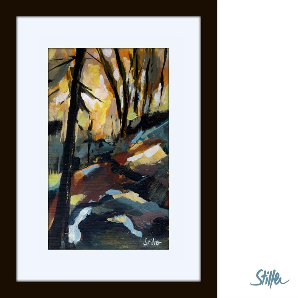 """3356 Miniature Woodland II"" original fine art by Dietmar Stiller"