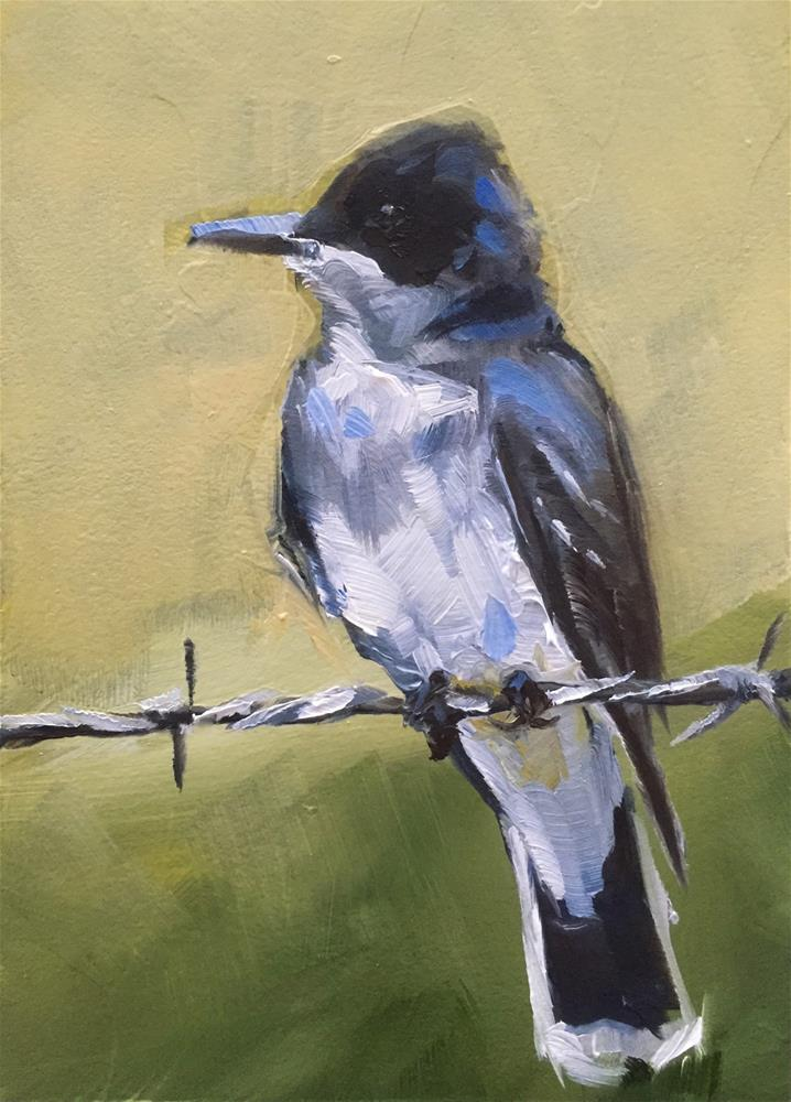 """Eastern Kingbird"" original fine art by Gary Bruton"