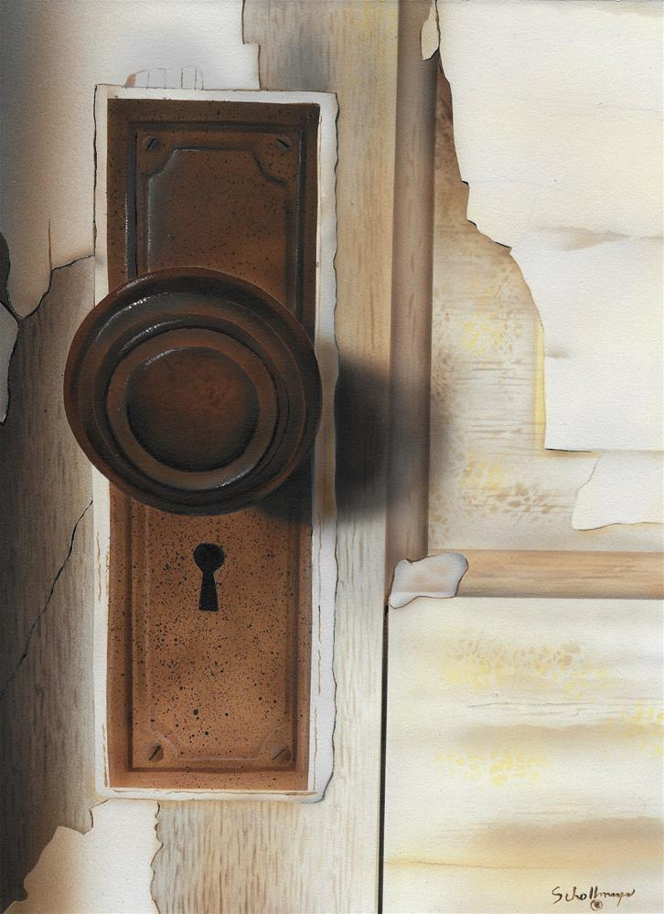 """Rusty"" original fine art by Fred Schollmeyer"