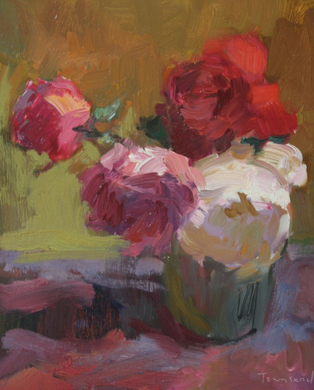 """""""Still Life with Roses"""" original fine art by Kathryn Townsend"""