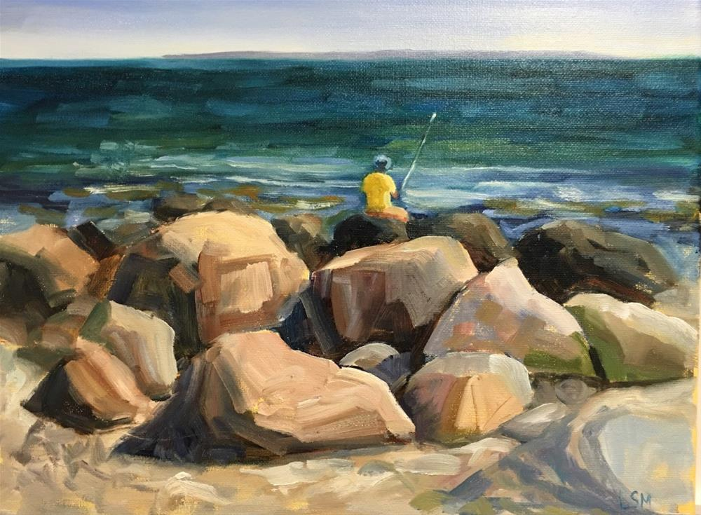"""On the Rocks"" original fine art by Linda Marino"