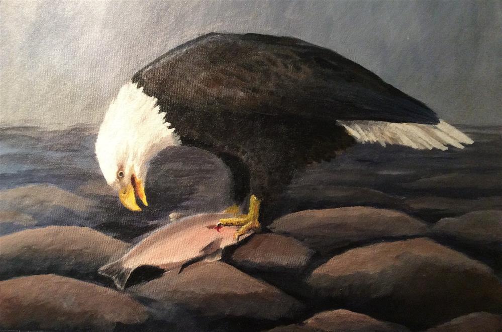 """""""Olde Timey Eagle"""" original fine art by Jenny Kinberg"""