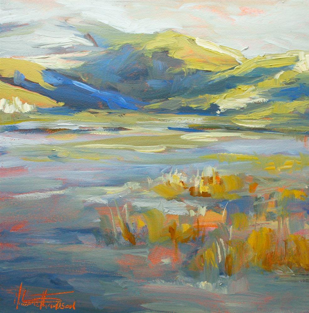 """Snow Covered Hills - Utah Daily Painting"" original fine art by Melanie Thompson"
