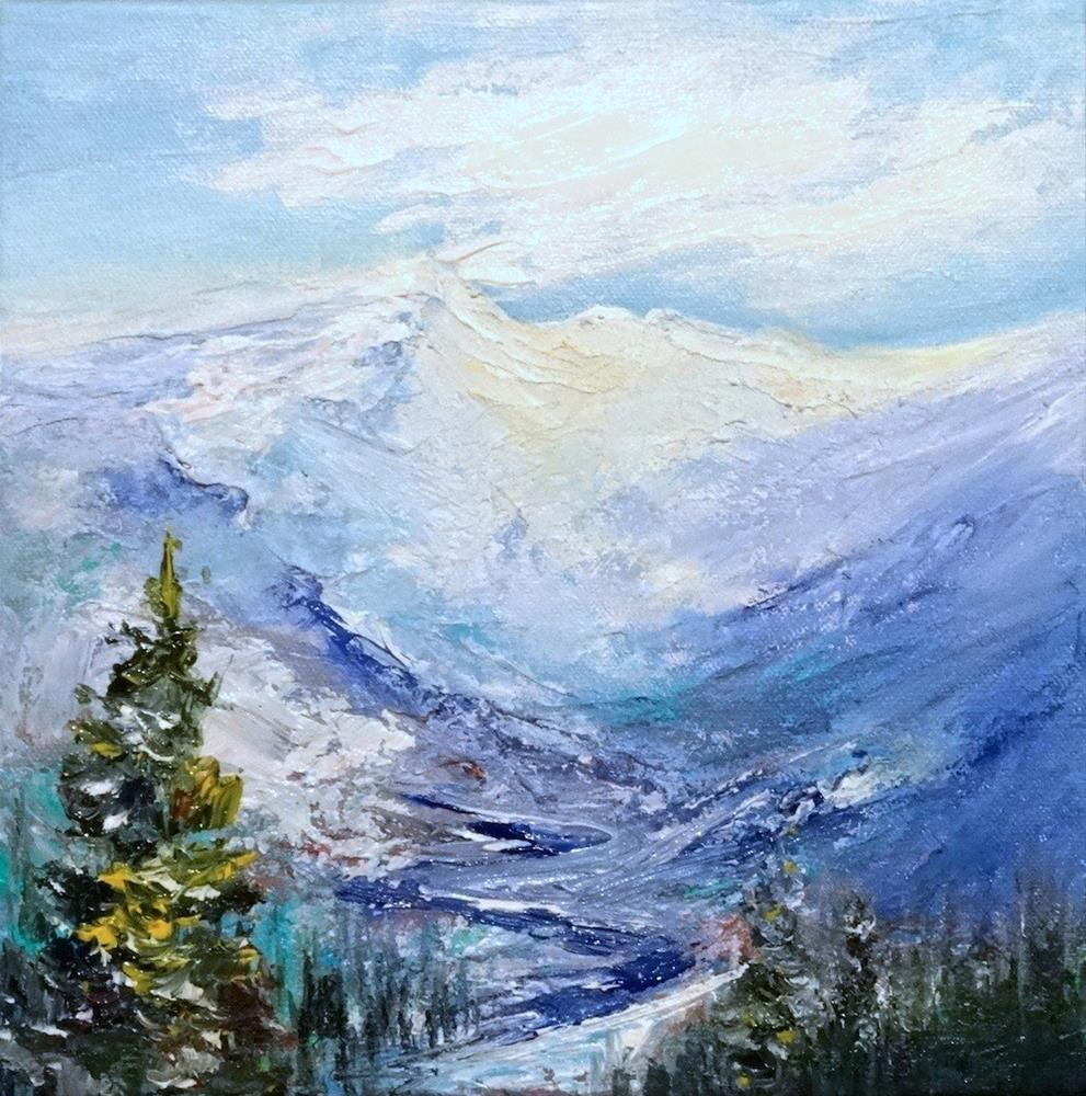 """4211 - White Mountains I - Deep Wrap"" original fine art by Sea Dean"
