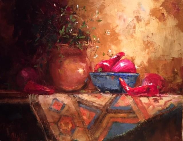 """New Blue Bowl"" original fine art by Barbara Fluty"