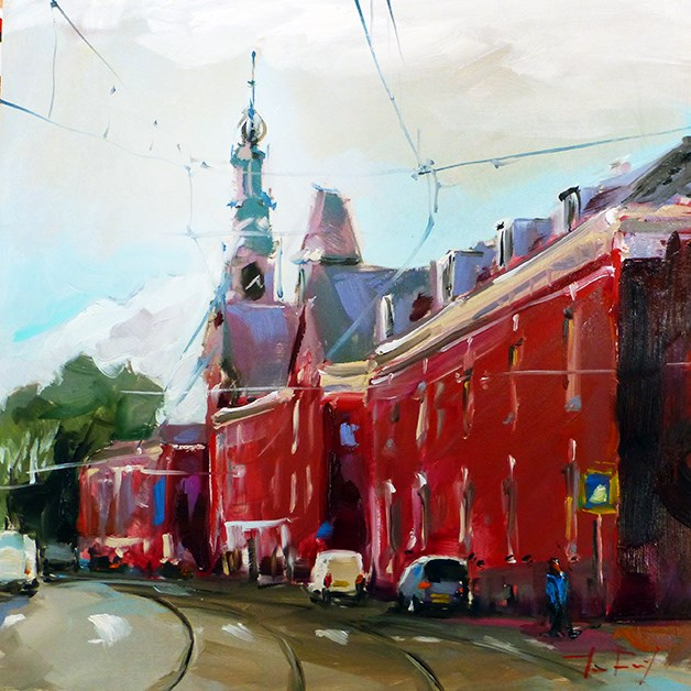 """""""Den Haag, die Straße"""" original fine art by Jurij Frey"""