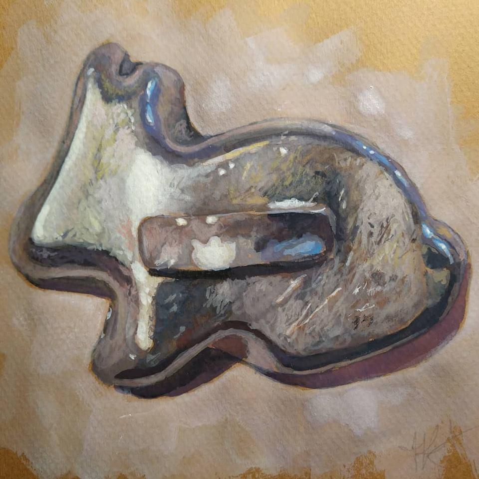 """Grandma's Cookie Cutter"" original fine art by Jennifer Krentz"