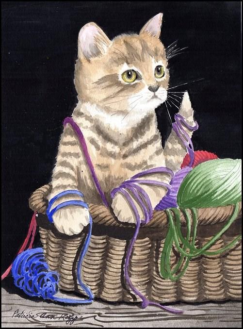 """The Innocent Kitty"" original fine art by Patricia Ann Rizzo"
