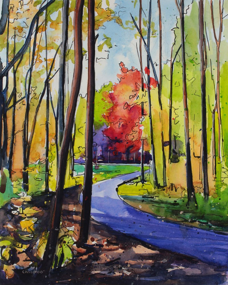 """Red Maple"" original fine art by Chris Breier"