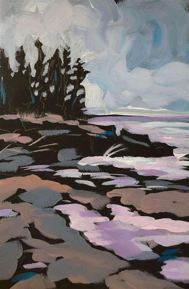 """Through the Trees"" original fine art by Kat Corrigan"