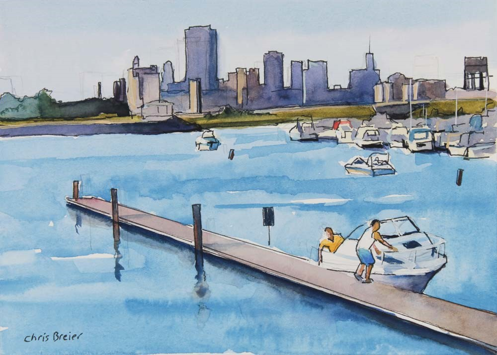 """Boat Ride"" original fine art by Chris Breier"