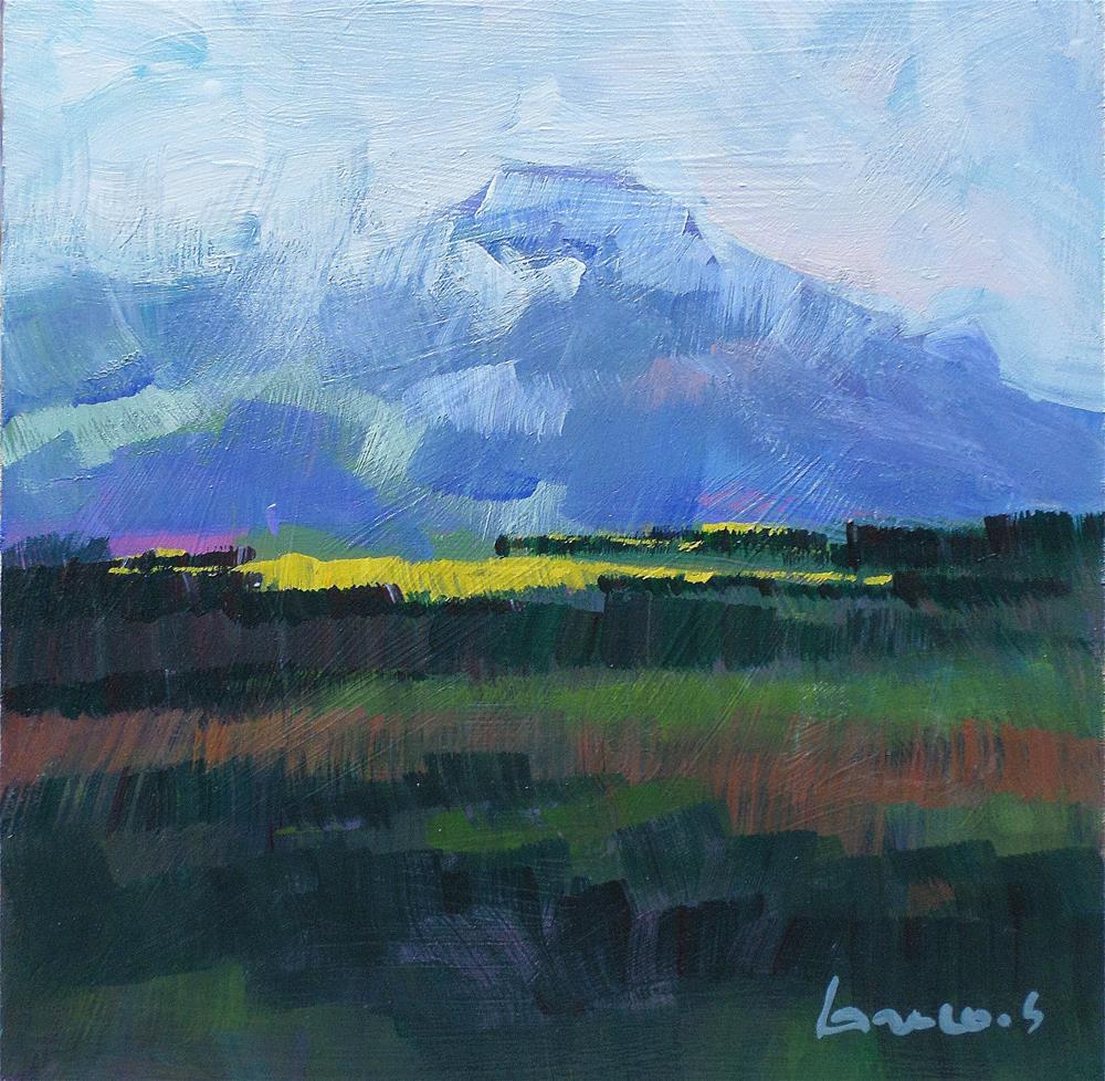 """Light on the plain"" original fine art by salvatore greco"