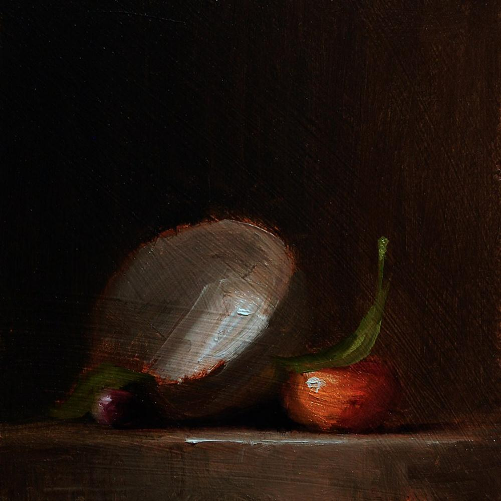 """""""Finger Bowl with Clementine - study"""" original fine art by Neil Carroll"""