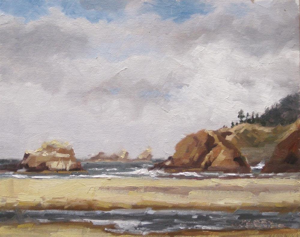 """""""Beach Creek"""" original fine art by Karen Werner"""