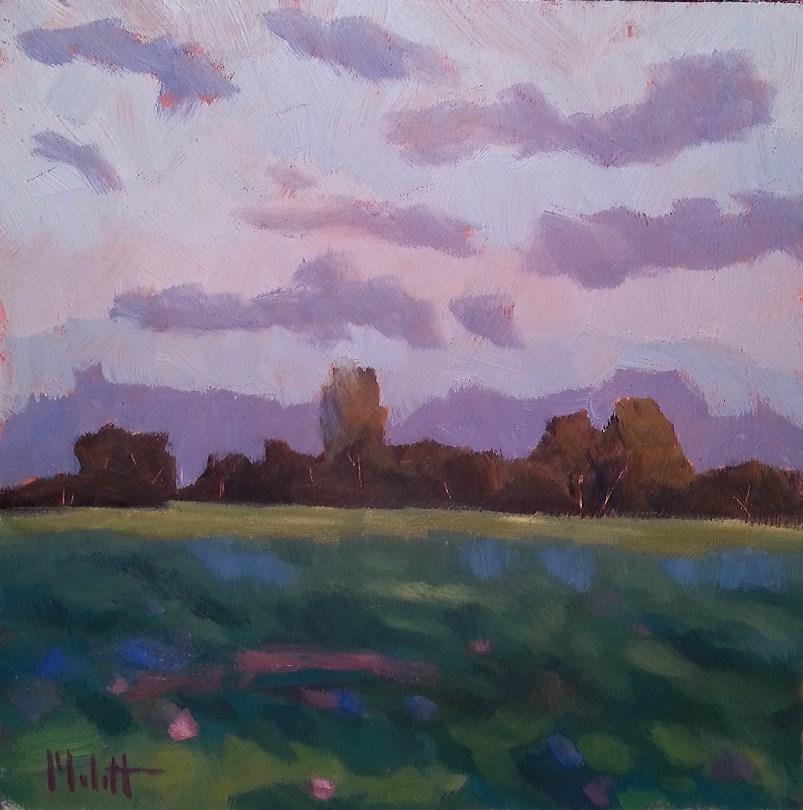 """Clover Dawn Landscape Original Oil Painting"" original fine art by Heidi Malott"
