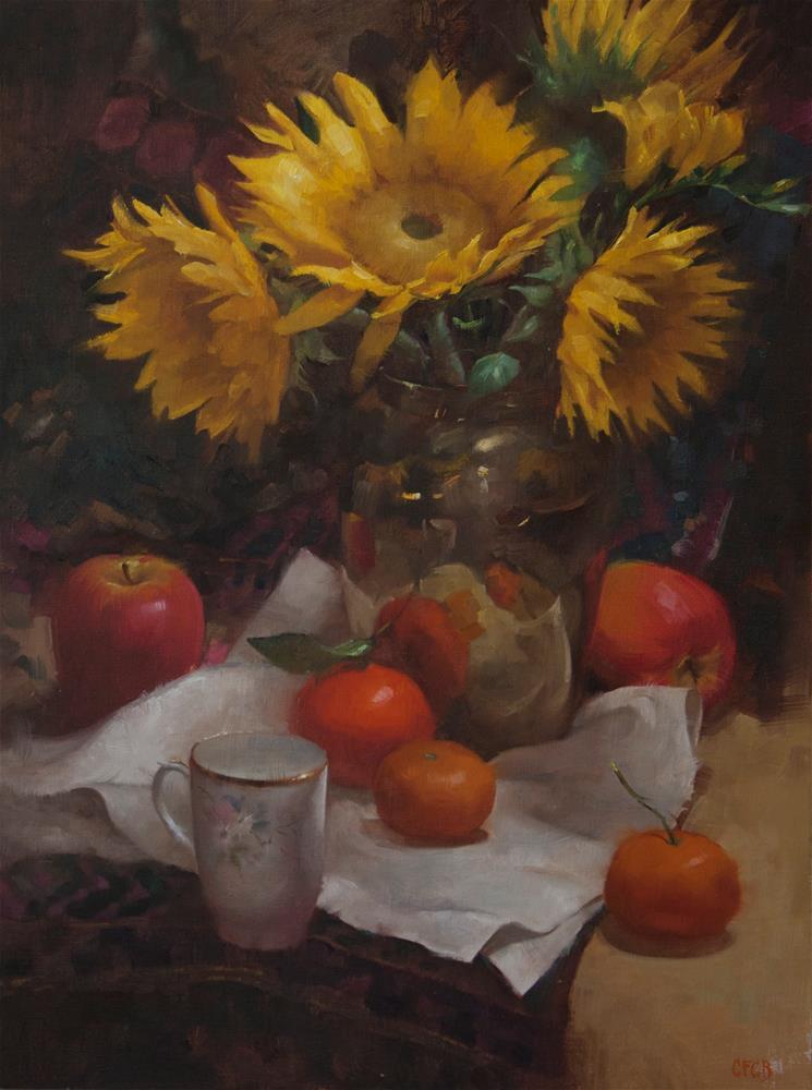 """Sunflowers"" original fine art by Catherine Bobkoski"