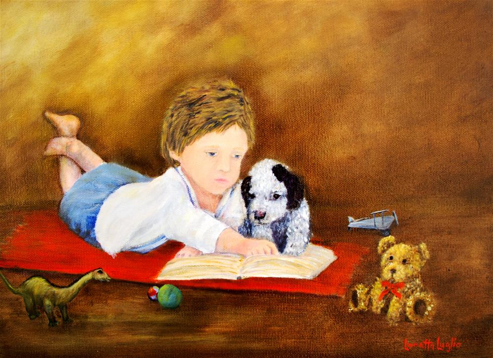 """Storybook Time"" original fine art by Loretta Luglio"