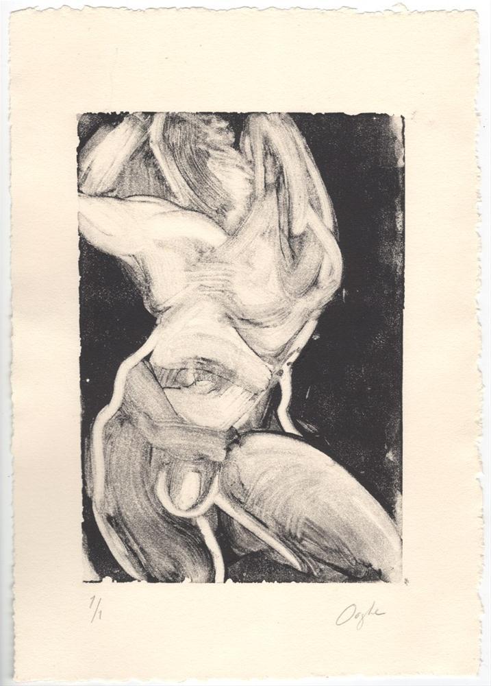 """Male Monotype"" original fine art by Angela Ooghe"