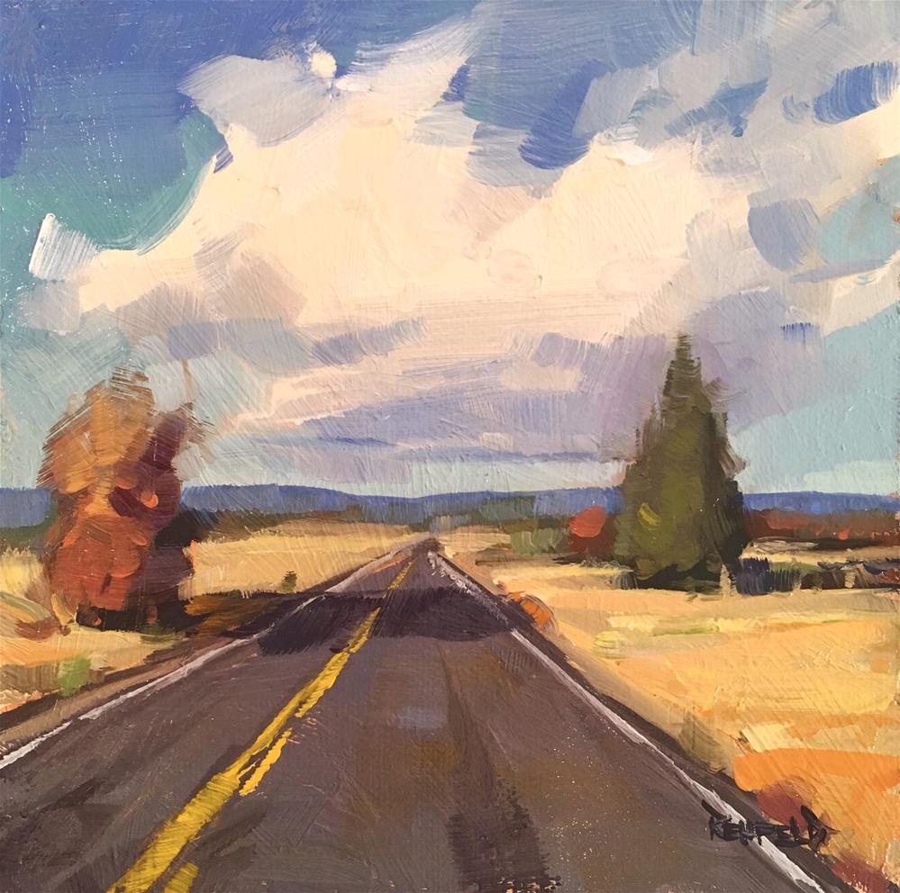"""Far Out"" original fine art by Cathleen Rehfeld"