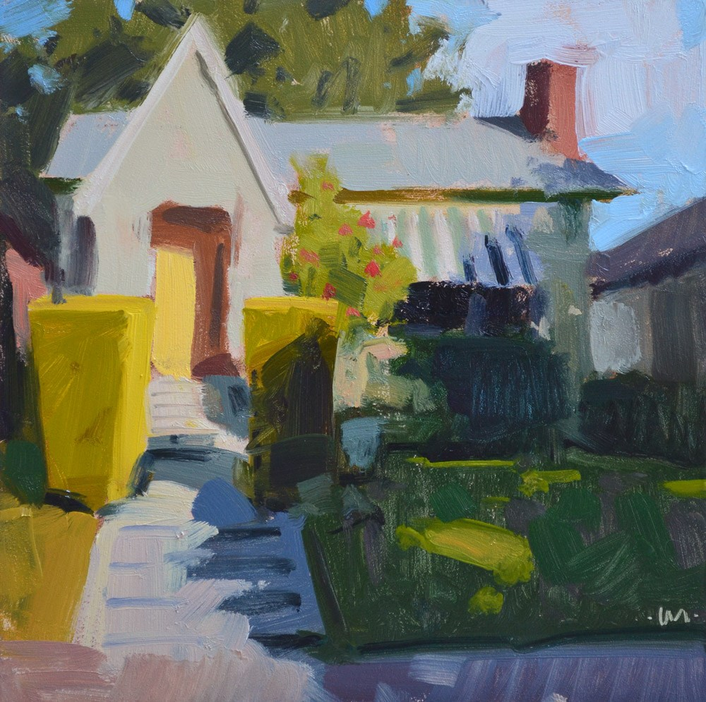 """Sweet Little House"" original fine art by Carol Marine"