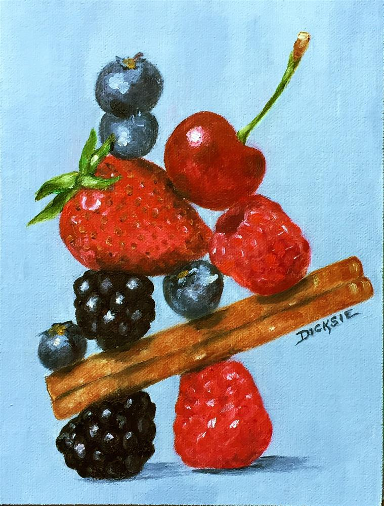 """Fruit Sculpture"" original fine art by Dicksie McDaniel"