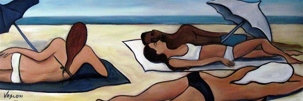 """Stretch of Beach"" original fine art by Valerie Vescovi"