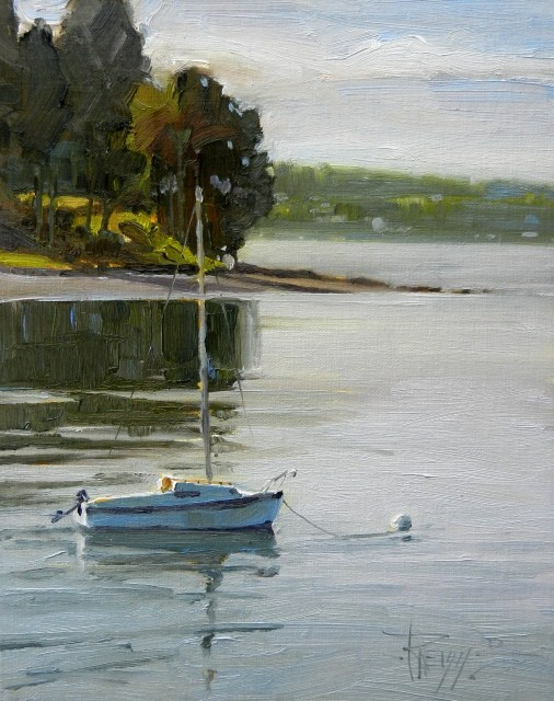 """Vashon Sailboat marine oil painting by Robin Weiss"" original fine art by Robin Weiss"