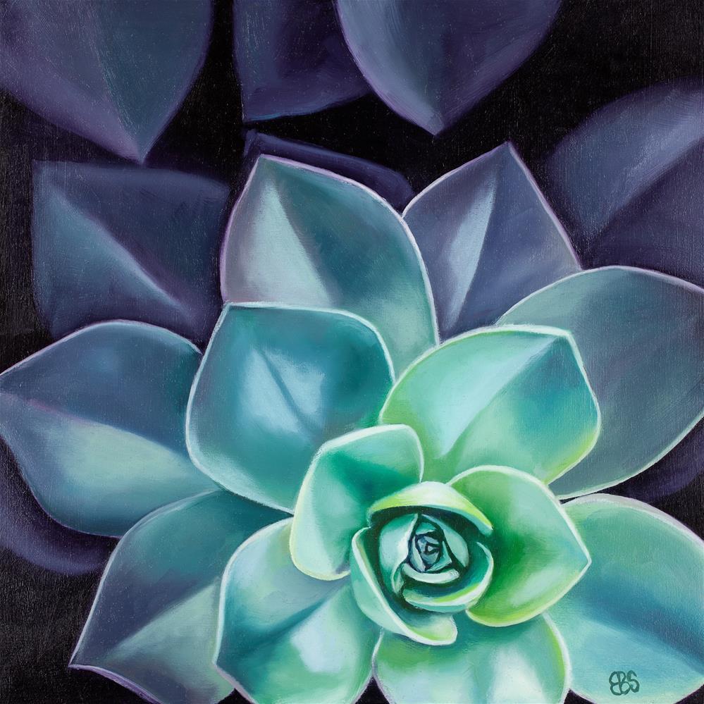 """""""Succulent No 2"""" original fine art by Elaine Brady Smith"""