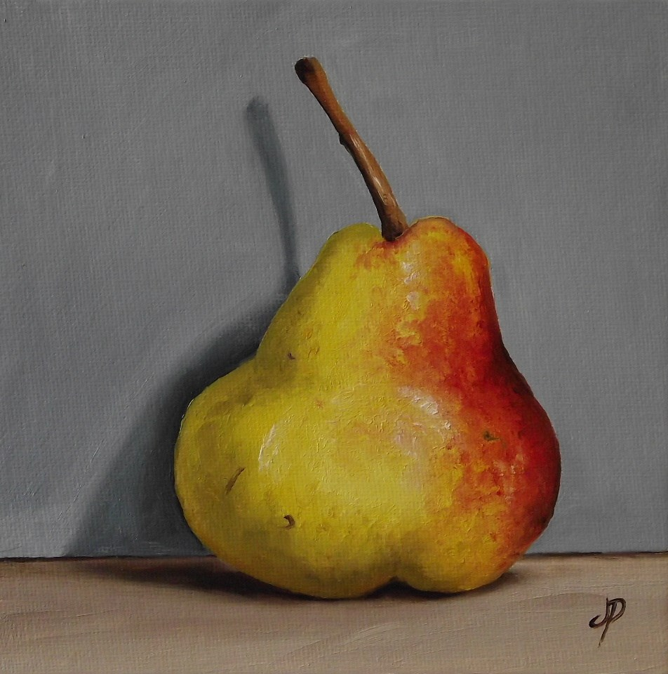 """Blush Pear Shadow"" original fine art by Jane Palmer"