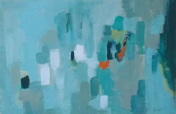 """Transaction"" original fine art by Pamela Munger"
