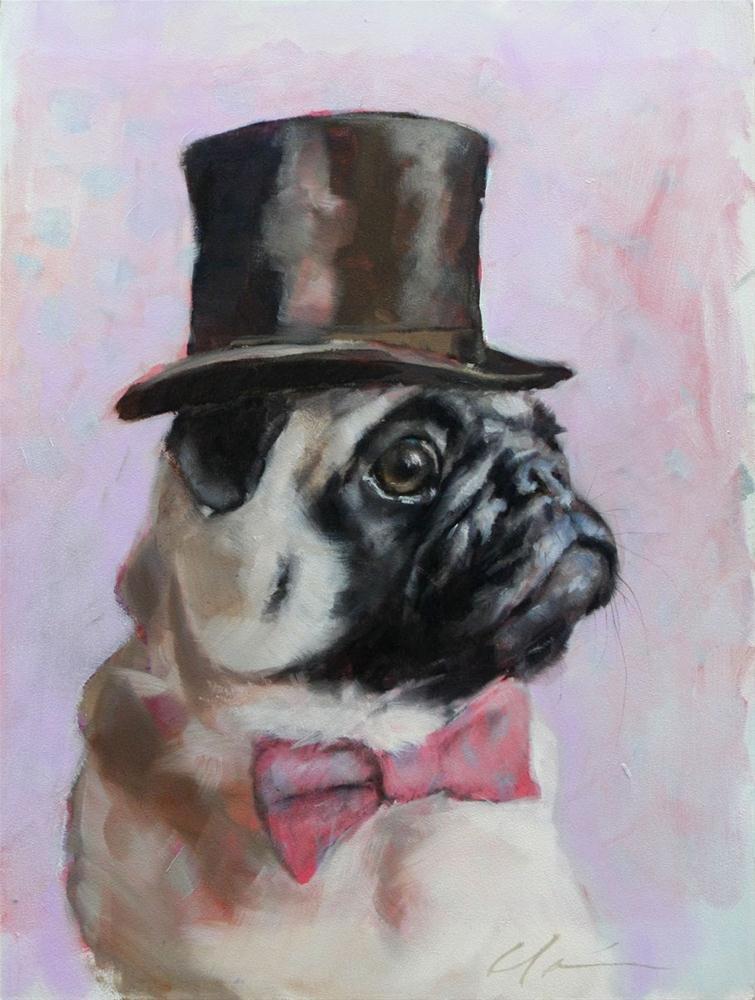 """""""Sir. Hubert"""" original fine art by Clair Hartmann"""