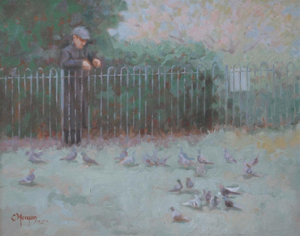 """""""The Pensioner"""" original fine art by Cecile W. Morgan"""
