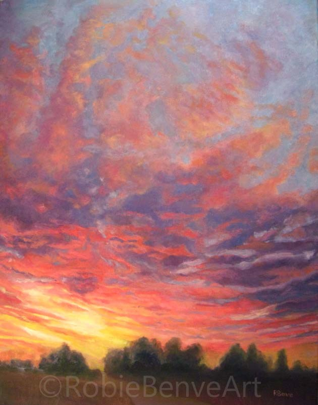 """Looking Forward to Tomorrow"" original fine art by Robie Benve"