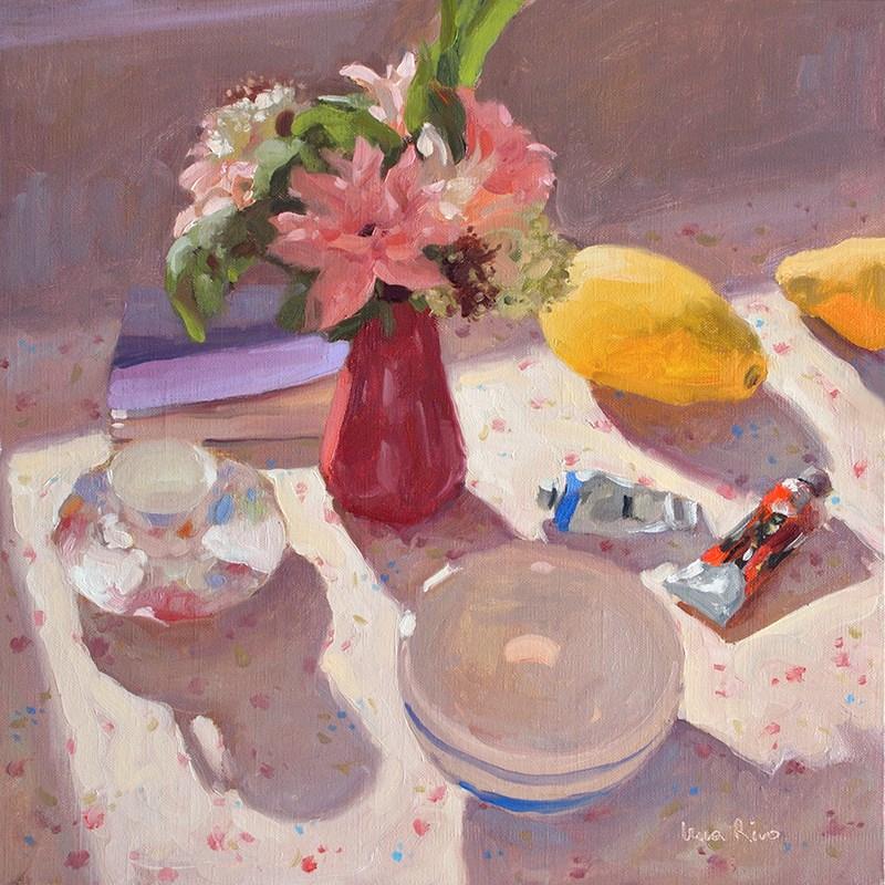 """""""Still life in warm morning light"""" original fine art by Lena Rivo"""