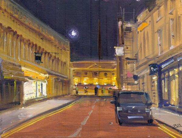 """Quiet Street Nocturne, Bath"" original fine art by Adebanji Alade"