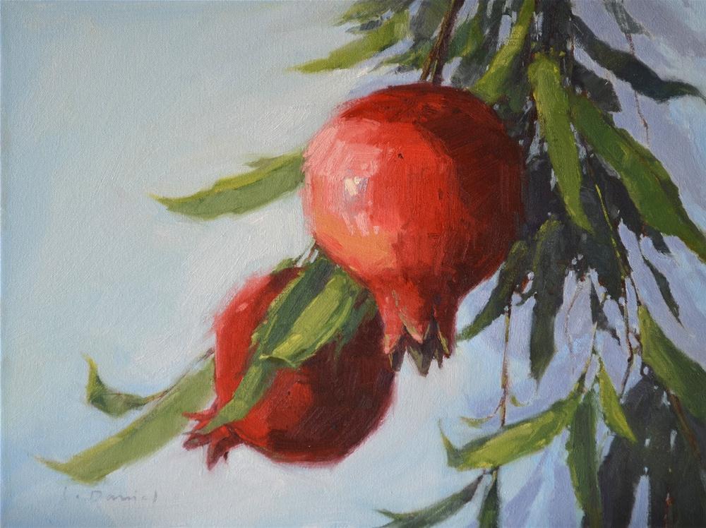 """Ruby Orbs (enlarged)"" original fine art by Laurel Daniel"